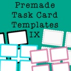 Task Card Frames and Borders 9 - Template