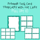 Task Card Template - Mini Set 10 - frames - borders