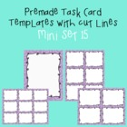 Task Card Template - Mini Set 15 - frames - borders