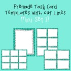 Task Card Template - Mini Set 17 - frames - borders