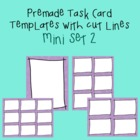 Task Card Template - Mini Set 2 - frames - borders