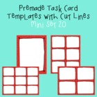 Task Card Template - Mini Set 20 - frames - borders