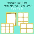 Task Card Template - Mini Set 21 - frames - borders