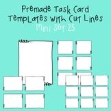 Task Card Template - Mini Set 25 - frames - borders