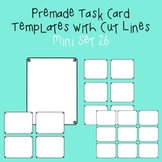 Task Card Template - Mini Set 26 - frames - borders
