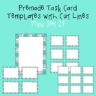 Task Card Template - Mini Set 29 - frames - borders