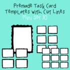 Task Card Template - Mini Set 30 - frames - borders