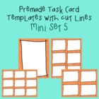 Task Card Template - Mini Set 5 - frames - borders