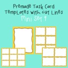 Task Card Template - Mini Set 9 - frames - borders