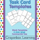 Task Card Templates - Printables Templates - Commercial Use