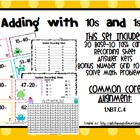Math Center Task Cards: Adding Groups of 10s and 1s (Commo