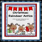 Task Cards: Critical Thinking Christmas, Reindeer Antics