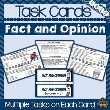 Task Cards: Fact and Opinion