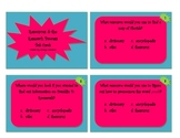 Resources/References and the Research Process Task Cards