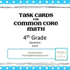 Test Prep Task Cards for 4th Grade Common Core Math (CCSS 4.G.3)
