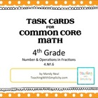 Task Cards for 4th Grade Common Core Math (CCSS 4.NF.6)