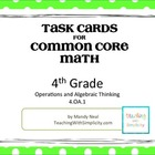 Test Prep Task Cards for 4th Grade Common Core Math (CCSS 4.OA.1)