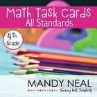 Test Prep Task Cards for 4th Grade Common Core Math * Incl