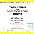 Test Prep Task Cards for 4th Grade Common Core Math (CCSS 4.MD.2)