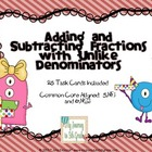 Task Cards for Adding and Subtracting Fractions with Unlik