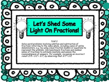 Task Cards for CCSS 5.NF.2