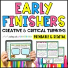 Task Cards for Early Finishers *Creative and Critical Thin