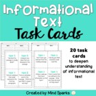 Task Cards for Informational Text