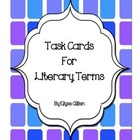 Task Cards for Literary Terms