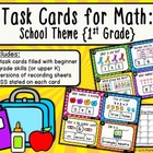 Task Cards for Math: School Theme {First Grade CCSS}