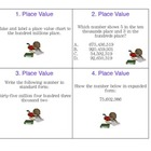 Task Cards for Place Value