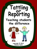Tattling or Reporting? - Teaching Students the Difference
