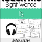Teach Me Sight Words: IS [Interactive Center with Printabl
