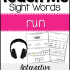 Teach Me Sight Words: RUN [Interactive Center with Printab