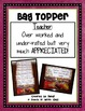 Teach Quote Bag Topper