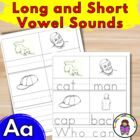 Teach the Vowels:  Short/Long Aa Worksheets