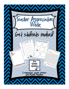 Teacher Appreciation Activities for Students Freebie
