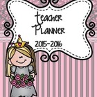 Teacher Binder 2014-2015  (Pretty in Pink)