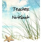 Teacher Binder Beach Theme