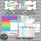 Teacher Binder - Chevron Theme (Editable!)