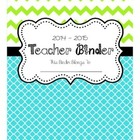 2014-2015 Teacher Binder Cover, Divider Pages, and More!