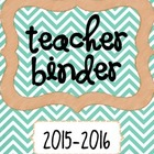 Teacher Binder **FREE**