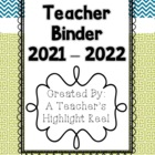Teacher Binder - Mission Organization Teal & Green