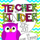 Teacher Binder - Chevron Owl Theme {2013 - 2014}