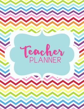 Teacher Binder (Planner & Organizer BUNDLE - Chevron) Editable w/CCSS
