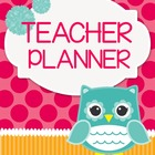 Teacher Binder (Planner & Organizer BUNDLE- Owl) Editable w/CCSS
