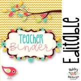 Teacher Binder & Planner Pack! *Chevron & Bird Themed* {Ed