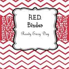 Teacher Binder RED &quot;Ready Every Day&quot;