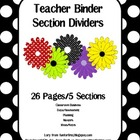 Teacher Binder Title Section Dividers