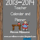 Teacher Calendar and Planner 2013-2014 - EDITABLE!