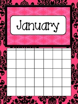 Teacher Calendars - {Pretty Pink and Black}